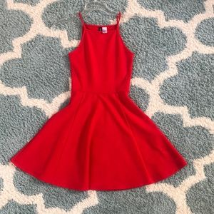 Red dress figure flattering size 2